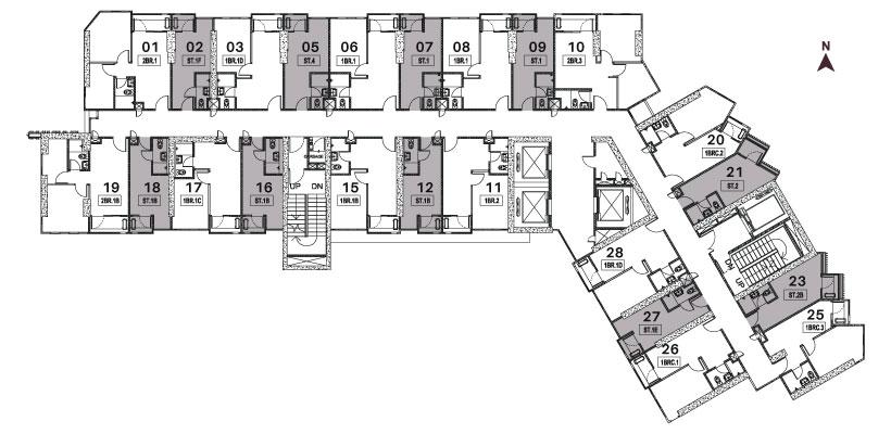 Vasaka Nines Studio Floorplan